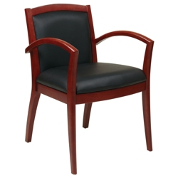 Wood Frame Eco Leather Guest Chair, 55603