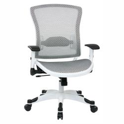 White Frame Mesh Ergonomic Computer Chair, 56017