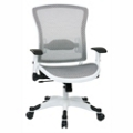 White Frame Mesh Ergonomic Computer Chair, 56017