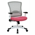 White Frame Mesh and Fabric Ergonomic Computer Chair, 56018
