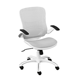 Linear Vertical Mesh Task Chair With Flip Arms, 56064