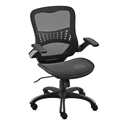 Linear Vertical Mesh Task Chair With Flip Arms, 56065