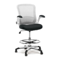 Linear Vertical Mesh Drafting Stool With Flip Arms, 56068
