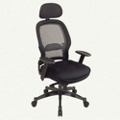 Office Chair with Mesh Fabric Seat and Headrest, 56935
