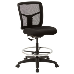 Mesh Back Armless Drafting Stool, 57111