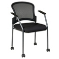 Guest Chair with Arms and Casters, 75952