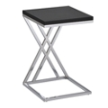 """Contemporary Chrome Frame Accent Table - 16""""W, 76416"""