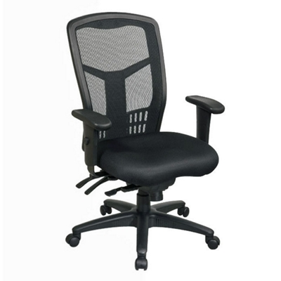 highback mesh chair with seat slider