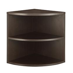 "Two Shelf Quarter-Round Bookcase - 23.5""W, 32184"