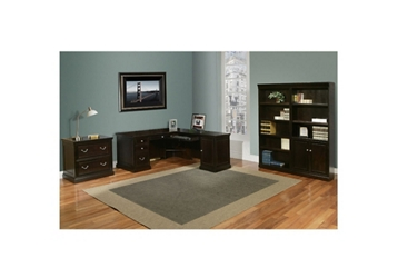 Espresso L-Desk Office Suite, 13194