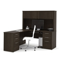 Reversible L-Desk with Hutch, 13418