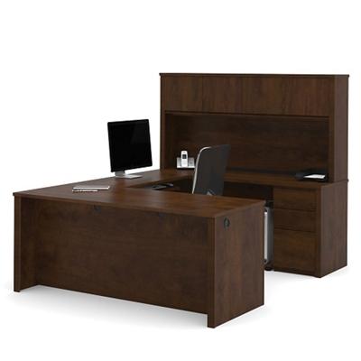 U Shaped Desk With Hutch, 13488