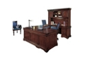 U-Desk with Curio Hutch and Right Return, 13218