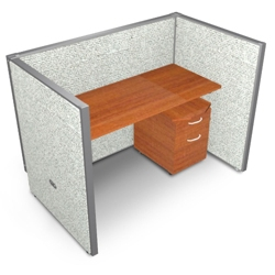 "Single Vinyl Workstation and Mobile File - 60""W x 47""H, 13638"