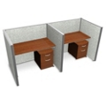"Double Vinyl Workstation with Mobile File - 74""W x 47""H, 13648"