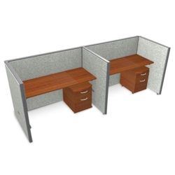 "Double Vinyl Workstation with Mobile File - 96""W x 47""H, 13650"