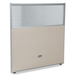 "37""W x 47""H Vinyl Partition with Clear Top, 21214"