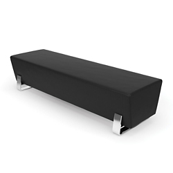 "Triple Vinyl Bench with Chrome Legs - 71.5""W, 26392"