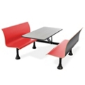 "Retro Bench with 48"" x 24"" Stainless Steel Table Top, 44241"