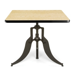 "Modern Adjustable Height Square Table - 36""W, 44661"