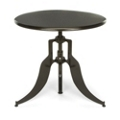 "Modern Adjustable Height Metal Round Table - 32"" Diameter, 44662"