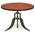 "Modern Adjustable Height Round Table - 42"" Diameter, 44664"