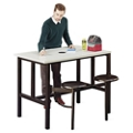"Standing Height Table with Two Swivel Seats - 48""W, 46423"