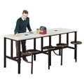 "Standing Height Table with Four Swivel Seats - 96""W, 46424"