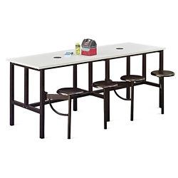 "Standing Height Table with Six Swivel Seats - 141""W, 46426"