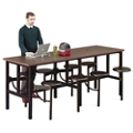 "Standing Height Table with Sixteen Swivel Seats - 186""W, 46429"