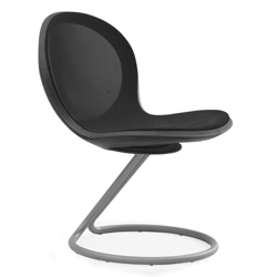 Steel Mesh Guest Chair with Circular Base, 50954