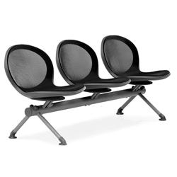 Steel Mesh Three Seat Beam, 50956
