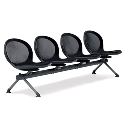 Steel Mesh Four Seat Beam, 50958