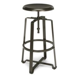 Tall Adjustable Height Metal Seat Stool, 50978
