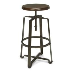 Tall Adjustable Height Solid Wood Seat Stool, 50979
