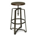 Tall Adjustable Height Solid Wood Seat Stool, 50979