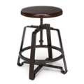 Small Adjustable Height Solid Wood Seat Stool, 50981