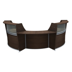 "Marque Three Piece ADA Reception Set with Plexi - 134.312""W x 71""D, 75663"