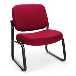 Big and Tall Armless Fabric Guest Chair, 75961