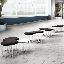 Hexagonal Seating & Tables - Twelve Piece Set, 86270