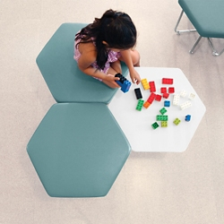 Hexagonal Seating & Tables - Three Piece Set, 86271