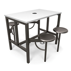 Standing Height Table with Four Swivel Seats, 46249
