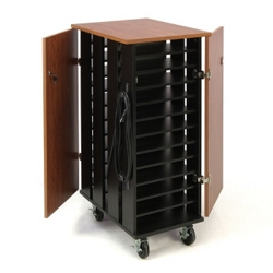 "Mobile Charging 24 Slot Laptop Storage Cart- 44""H, 43395"