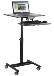 Mobile Sit & Stand Cart with Keyboard Tray, 43507