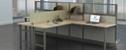 """Double L-Desk Workstations - 120""""W x 74""""D"""