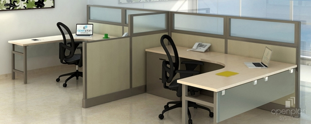 "Double L-Desk Workstations - 194""W x 74""D , 14599"