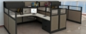 "Double L-Desk Workstation with Storage - 196""W x 100""D"
