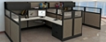 "Double L-Desk Workstation with Storage - 196""W x 100""D, 14600"