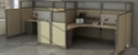 "Double L-Desk Workstation with Storage - 198""W x 76""D"