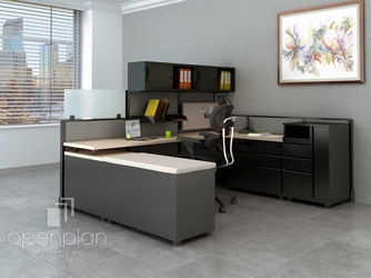"Open Panel L-Desk Workstation with Storage - 102""W x 84""D, 14606"